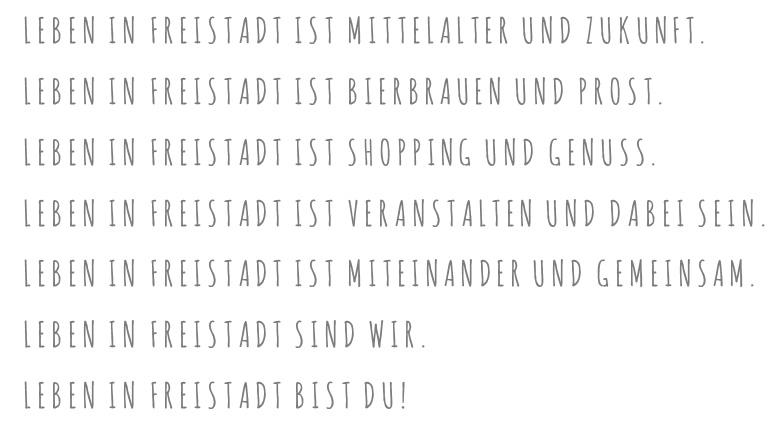 PRO Freistadt - Leben in Freistadt