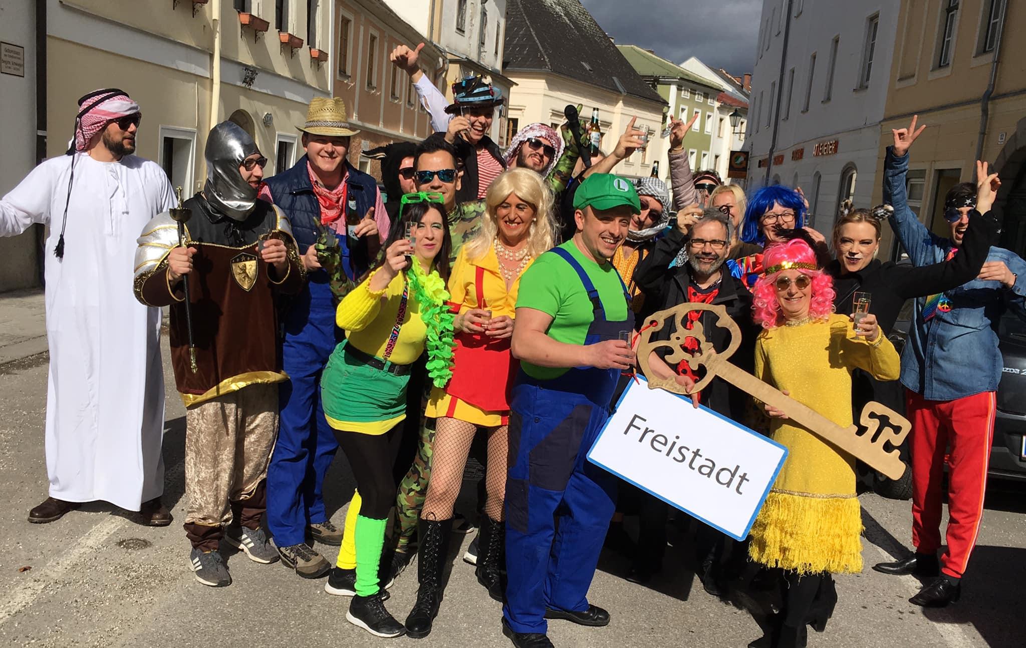 Fasching-in-Freistadt-2019-Waaggasse-Uebernahme
