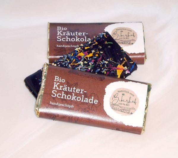 Kräuterblütenschokolade